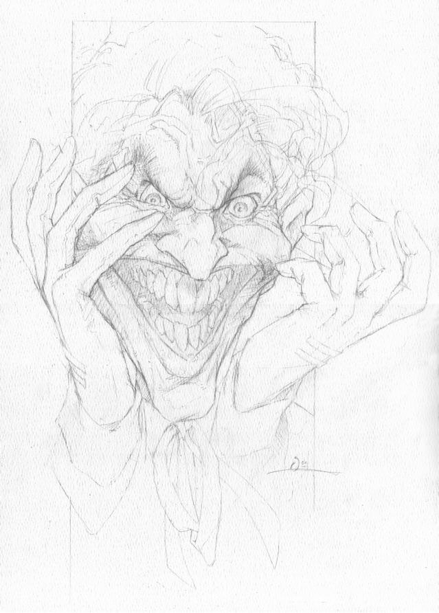 Joker Pencil Sketch In The September 2004 Batman Villains