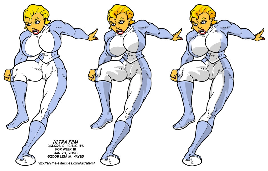 ultra fem color stages in lisa m hayes s step by step art comic