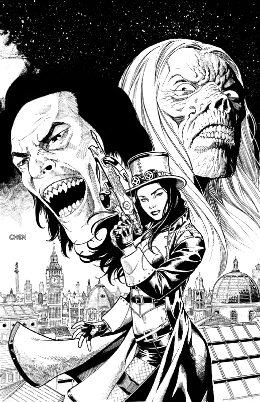 Van Helsing from Zenescope Comics, in Sean Chen's Sean