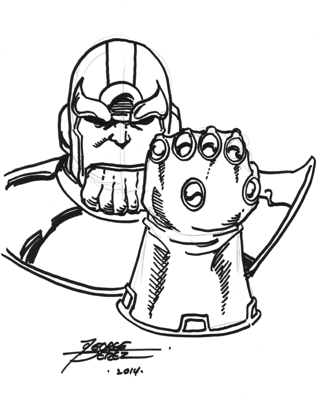 Thanos Infinity Gauntlet Coloring Pages Best Coloring Page 2018