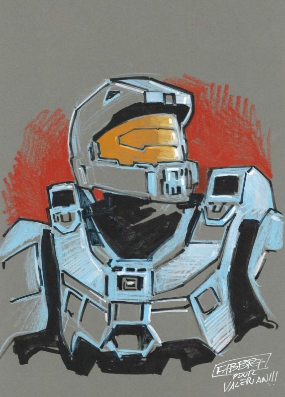Halo Master Chief In Comicofyl Valerian S Sketches Comic