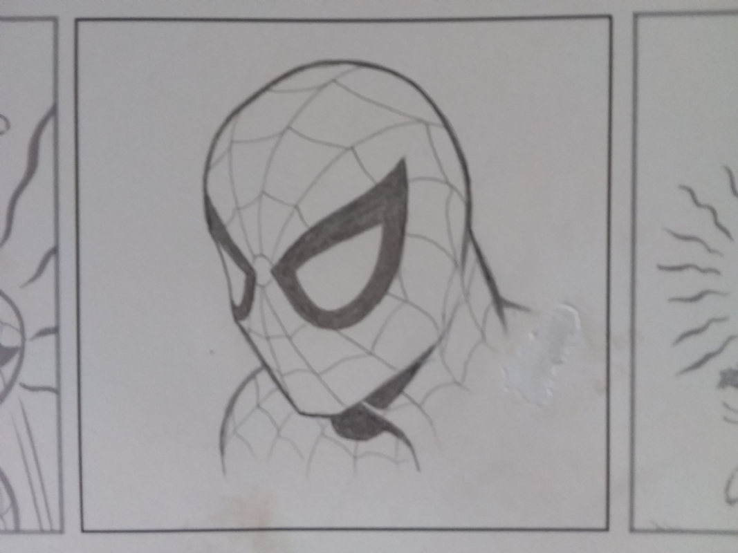 THE AMAZING SPIDER-MAN PENCIL SKETCH BY JOHN ROMITA SR , in