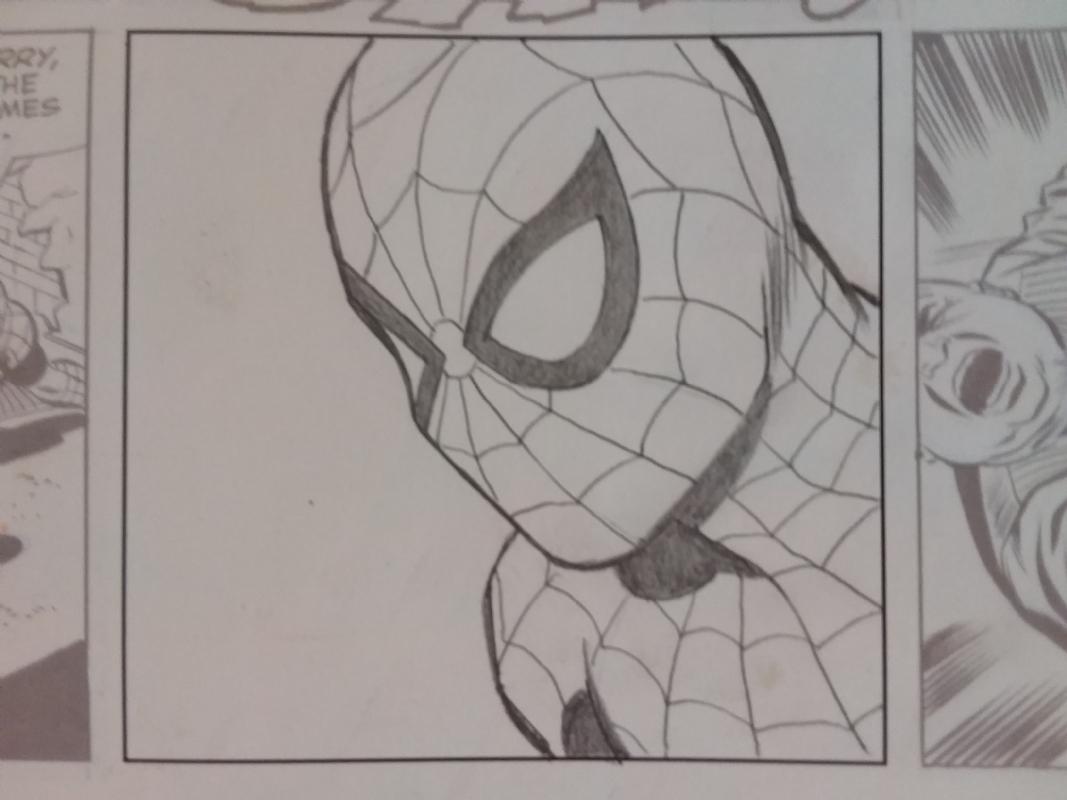 The amazing spider man pencil sketch by john romita sr comic art