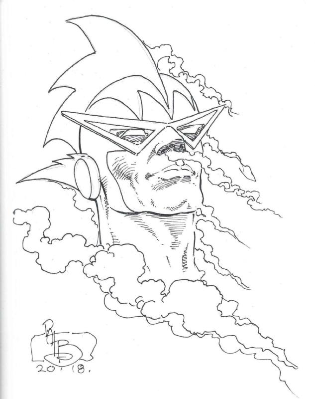 Pat Broderick Harlan Ellison S Silver Fog 2018 Sketch Comic Art