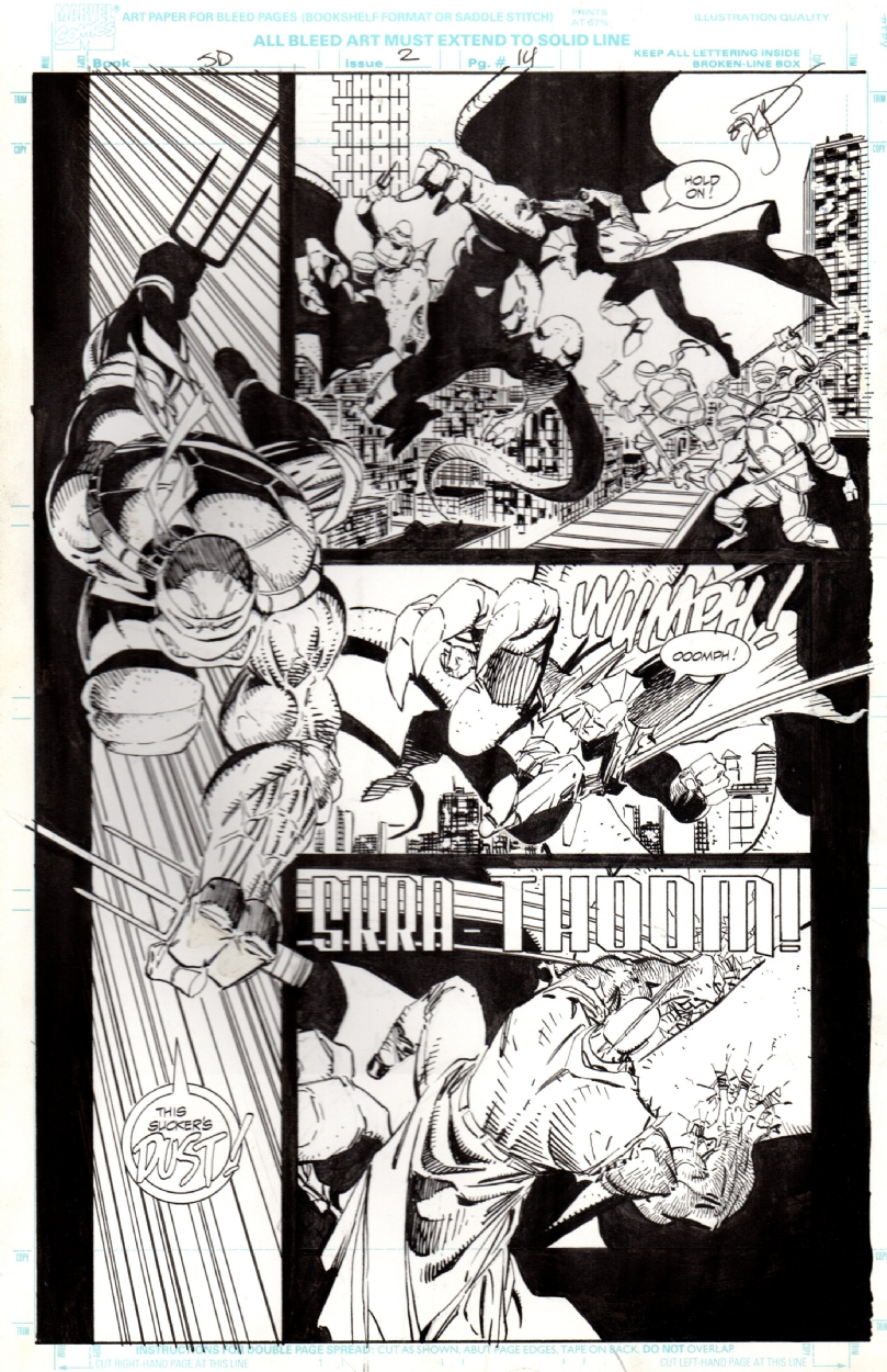 Savage Dragon 2 Page 14 Erik Larsen Teenage Mutant Ninja Turtles Awesome Raphael Image Comic