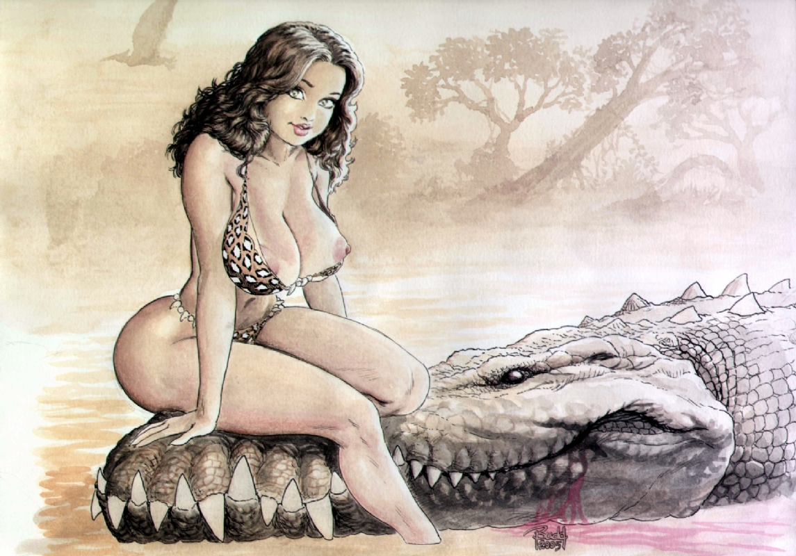 Cavewoman Reloaded Nude Not Work Safe Comic Art
