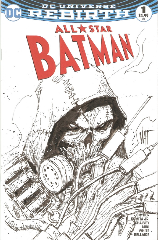 arkham city scarecrow on blank sketch cover by nat jones in clay