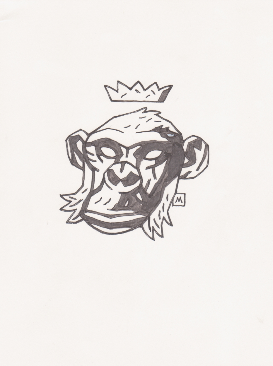 Mike Mignola T Shirt Design Monkey With Crown Comic Art