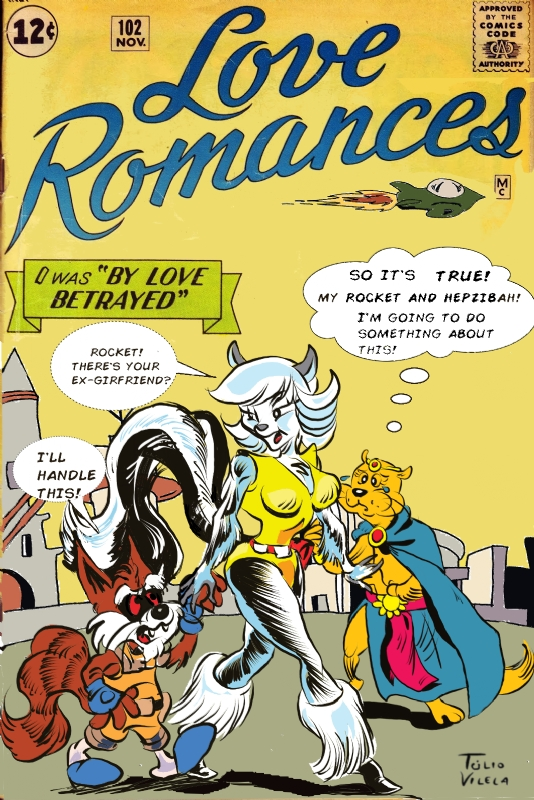 Rocket Raccoon Romance Comics, in Tulio Vilela's Covers