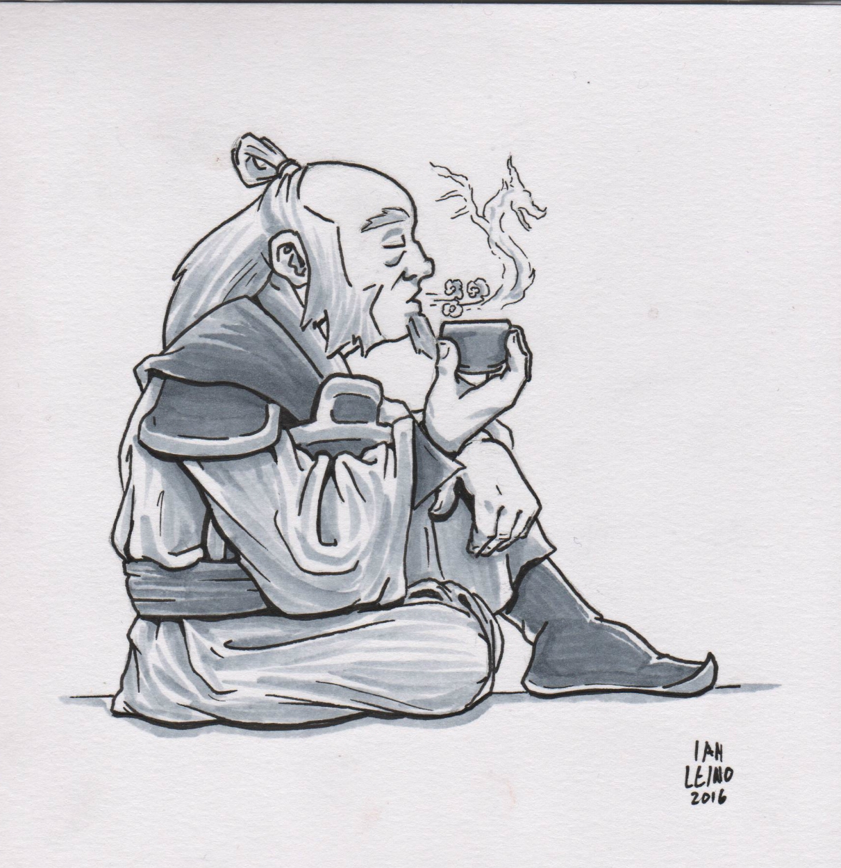 Avatar the last airbender uncle iroh by ian leino comic art