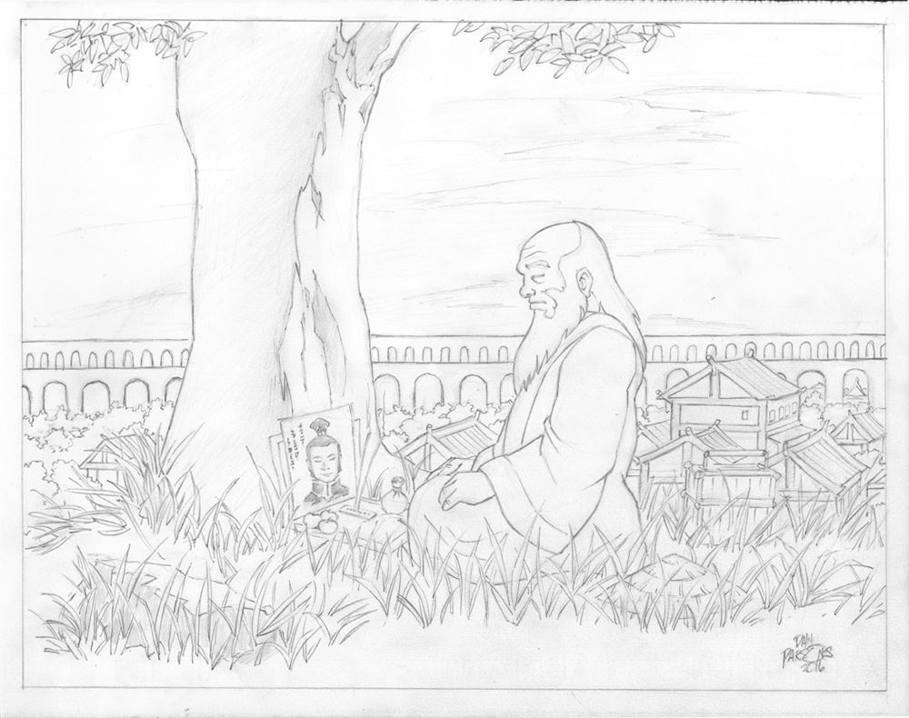 Avatar the last airbender leaves on the vine iroh by dan parsons