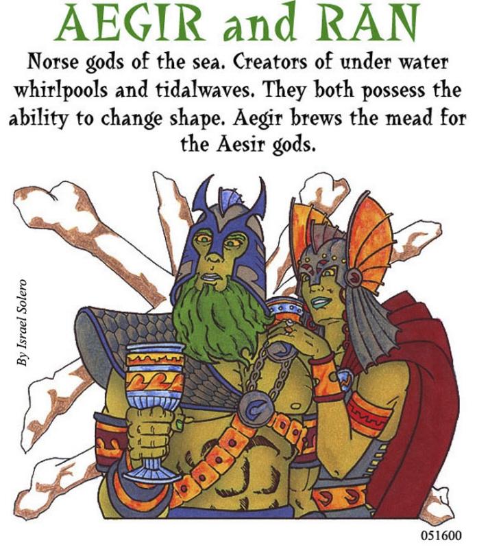 Aegir & Ran (Norse Myth) , In Israel Algarin, S's (08