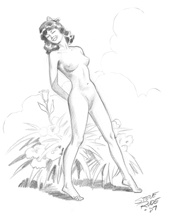 029 Nude With Flowers  Rude, In Roger Swansons Sketches -4991