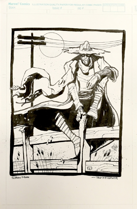 Ted McKeever - Scarecrow / Strawman DC Series Pitch Art, in David