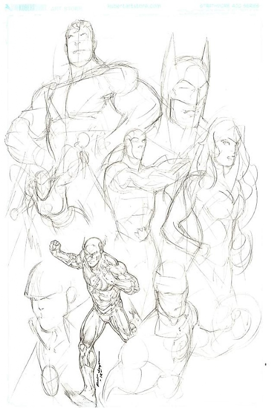 Justice League Jam Layout With Penciled Flash By Kevin Sharpe In