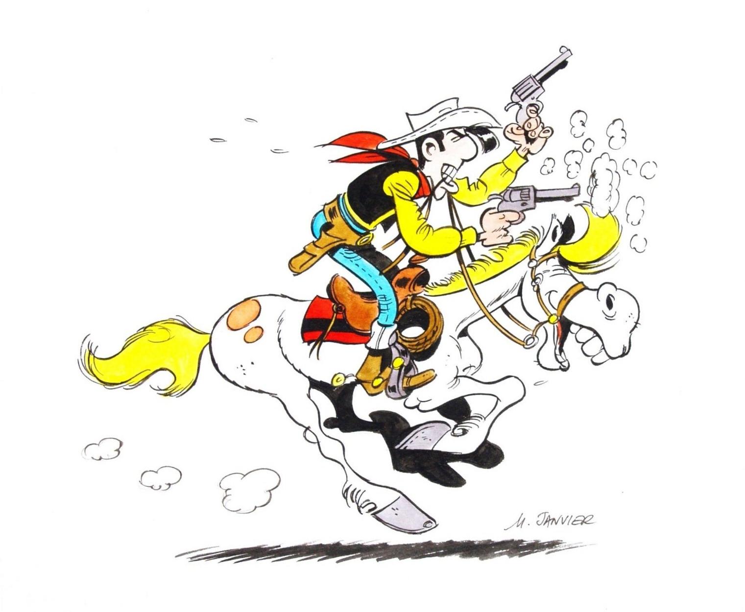 2000 Lucky Luke Colored Illustration European Kv In Arie K S