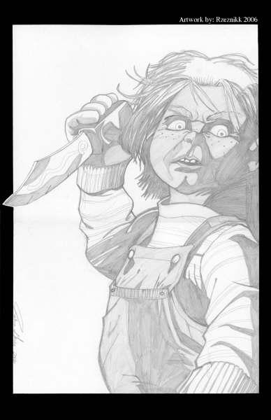 Chucky In Joshua Geiers Pencils Horror Movie Icons Comic Art