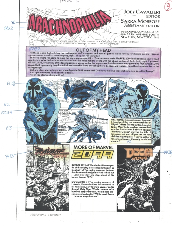 Spider Man 2099 2 P31 Color Guide In Jacob S S Spider Man 2099