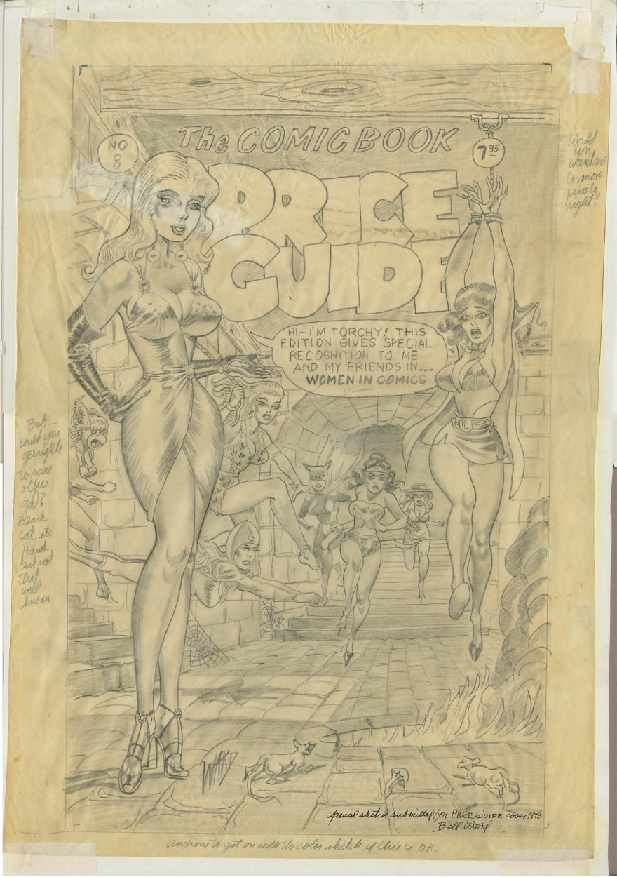 Bill Ward prelim for the 1978 Overstreet Comic Book Price Guide, in