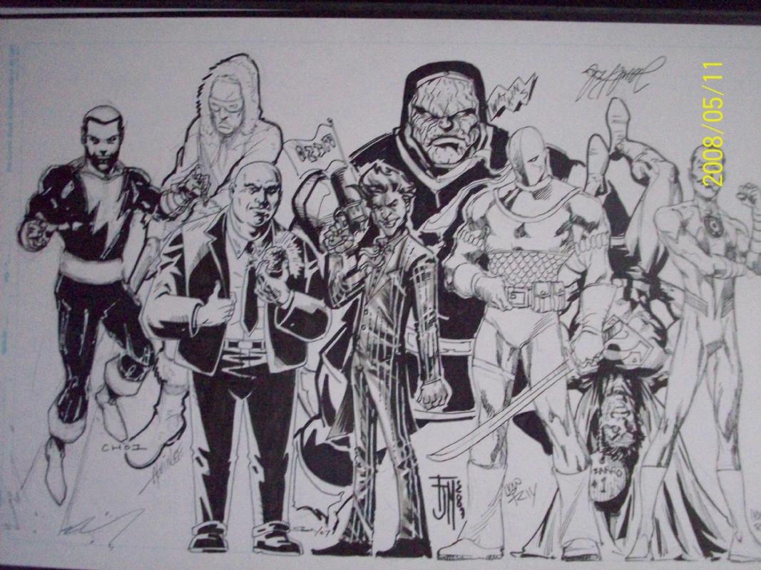 DC Villains Lineup Lex Joker Deathstroke, in shawn