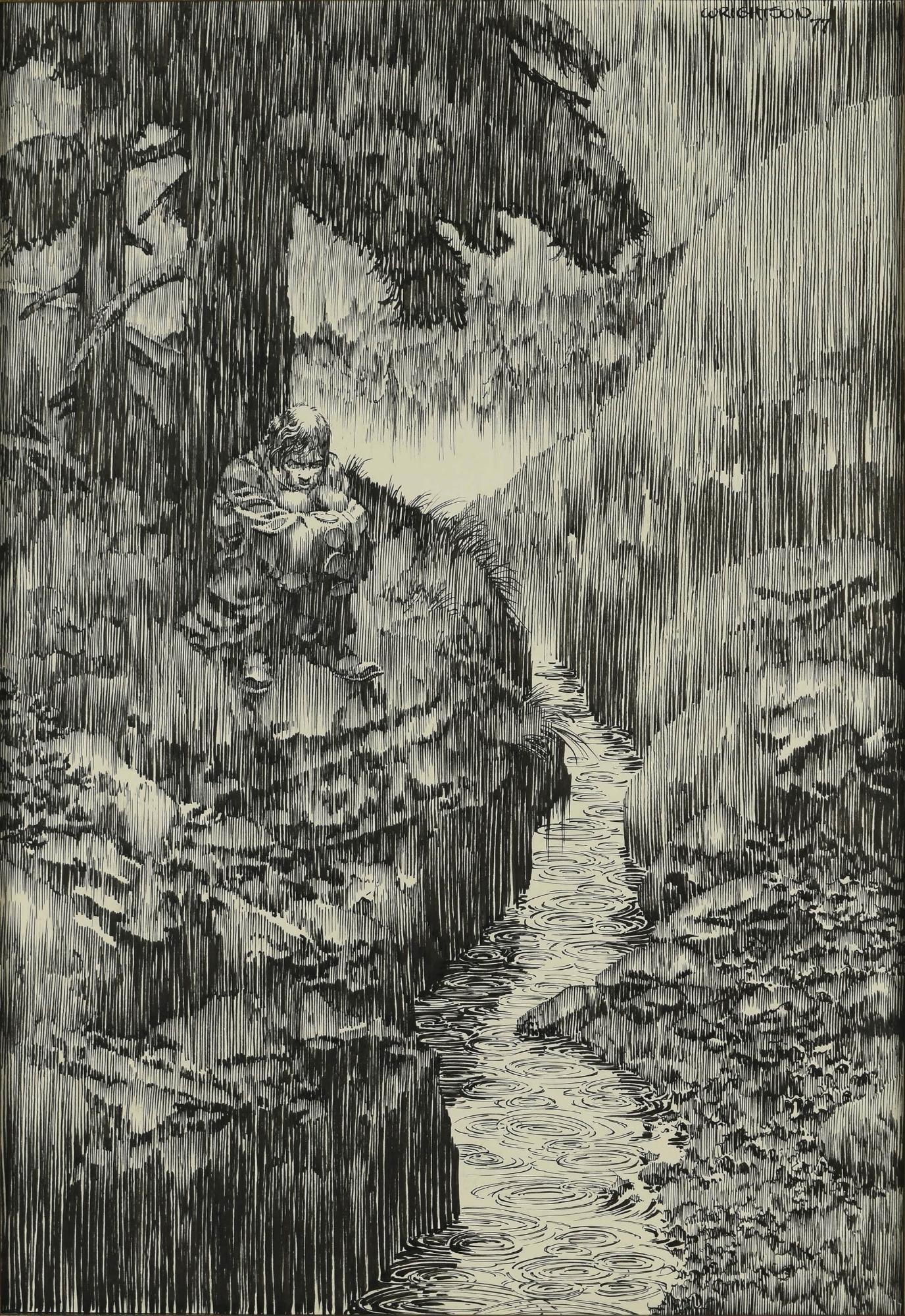 Original Art Illustration Plate Published In Frankenstein