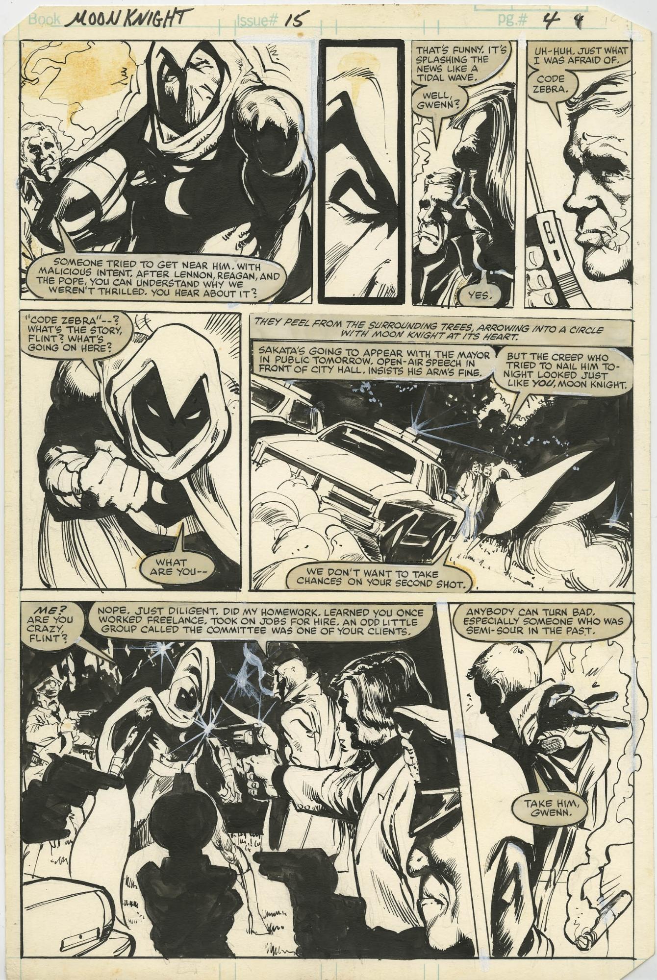 USA, 1982 Moon Knight # 15 Bill Sienkiewicz