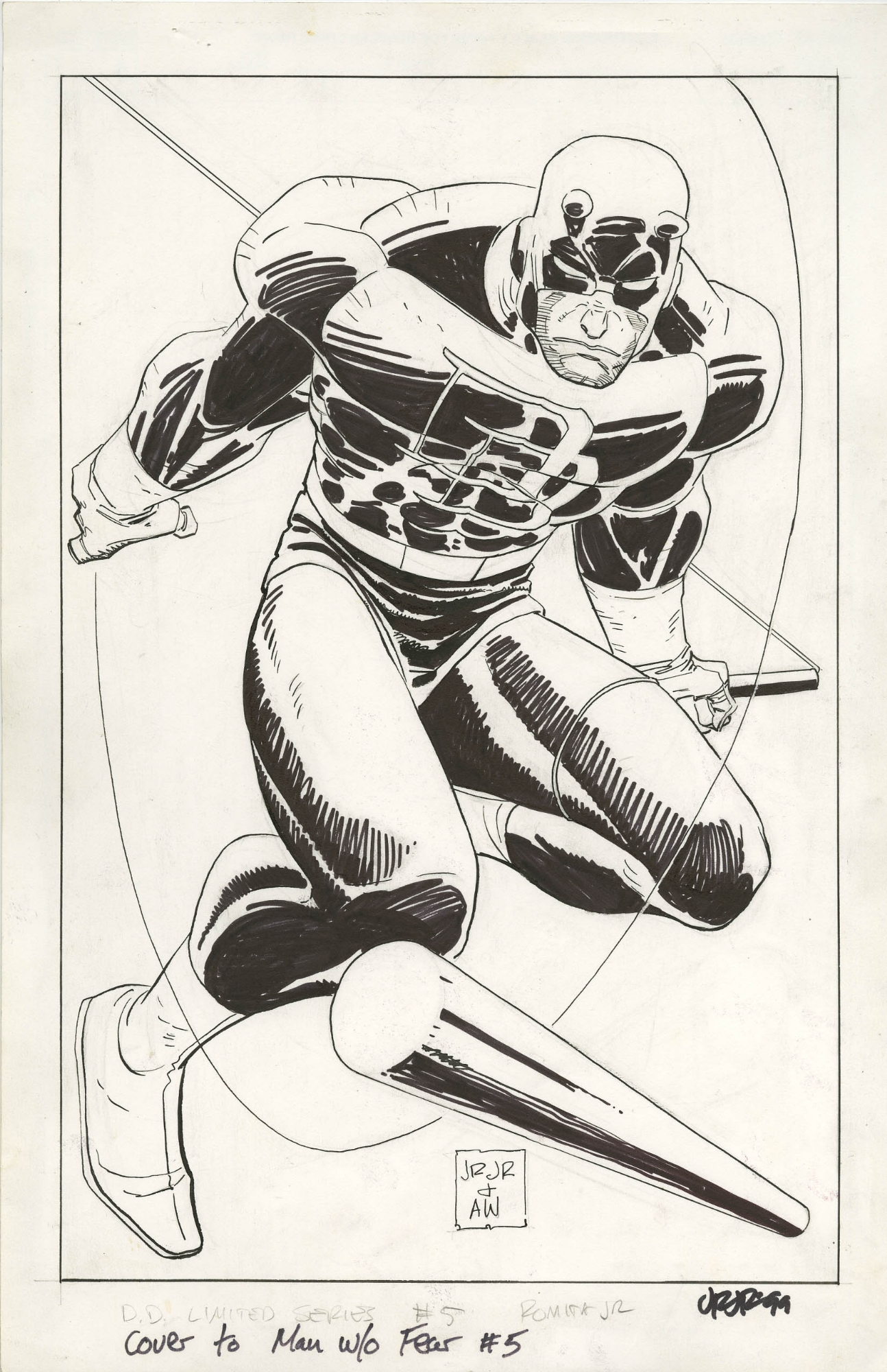 DAREDEVIL THE MAN WITHOUT FEAR #5 COVER ( 1994, JOHN ROMITA