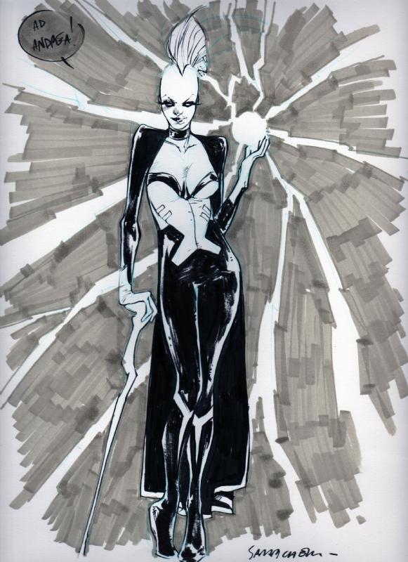 Pichelli Sara - Storm, in Andrea Bonzi's Sketches and more Comic Art Gallery Room