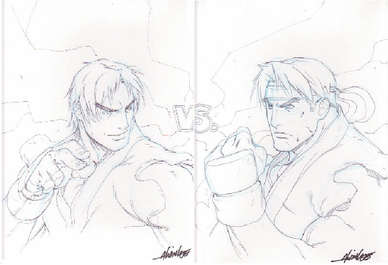 Alvin Lee Ken Vs Ryu Street Fighter In Kevin Strykers Artist