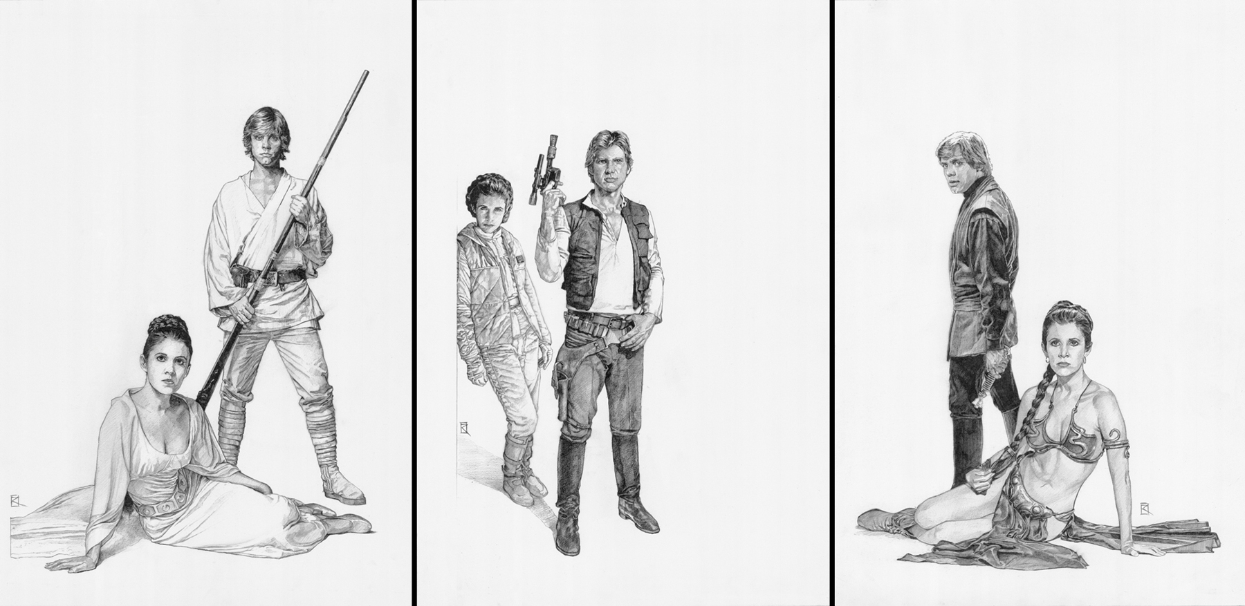 Han Solo, Luke Skywalker & Princess Leia: Star Wars C7 ...