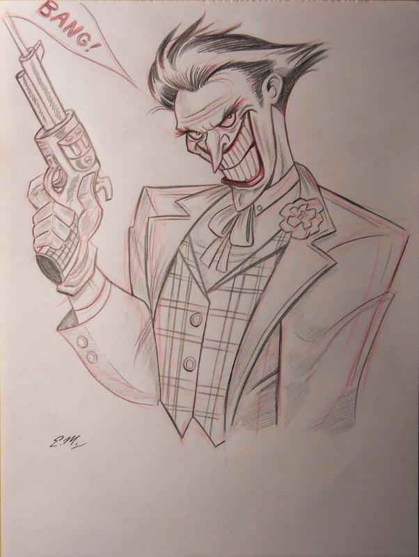 Joker Pencil Sketch Sold In Eric Matos S My Art For Sale