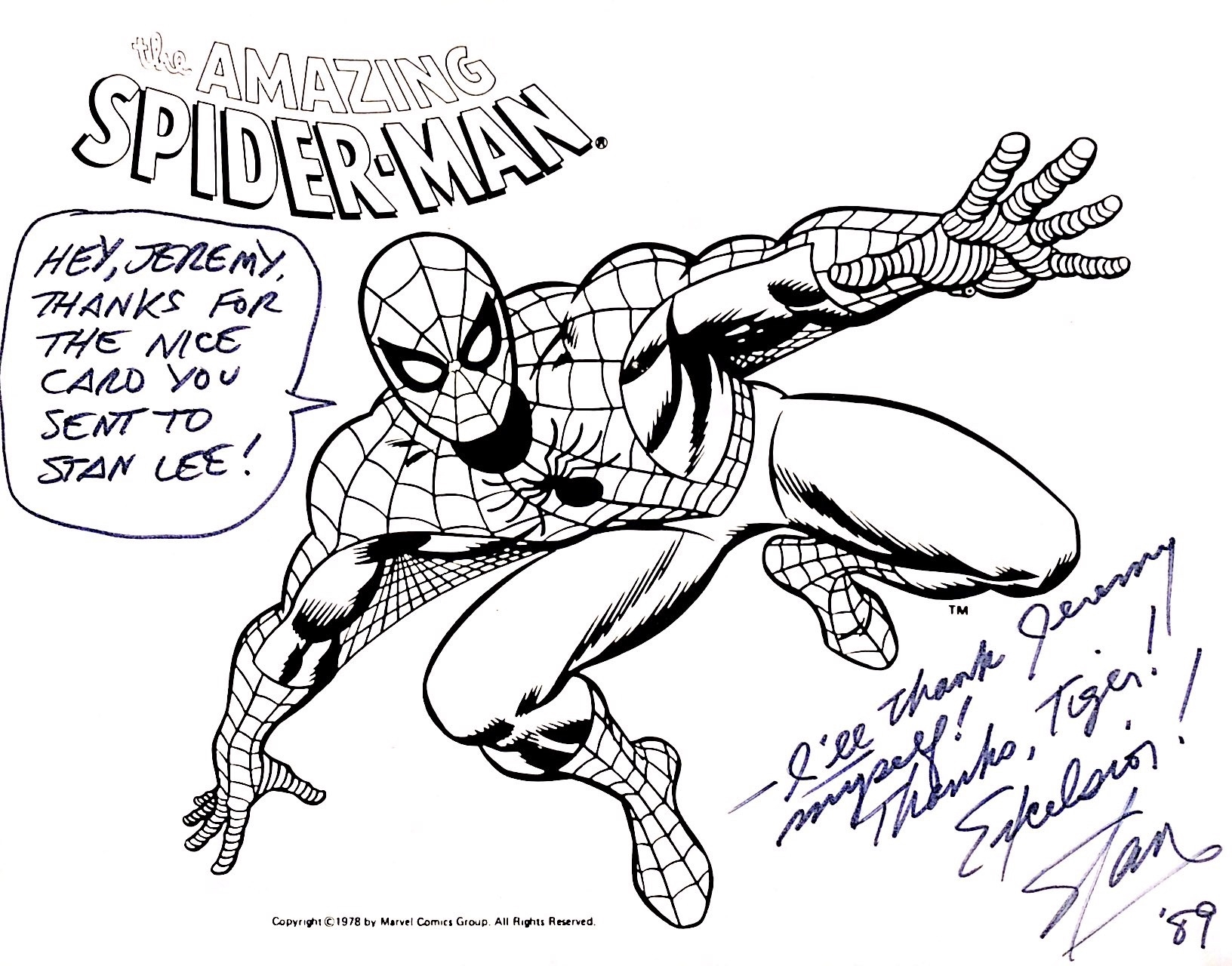 e2711e04678 Thank you note from stan lee in jeremy radisichs stan lee comic jpg  1632x1280 Thank you