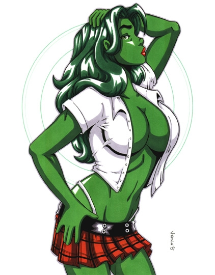 She Hulk School Girl In Richard Owens She Hulk Comic Art Gallery