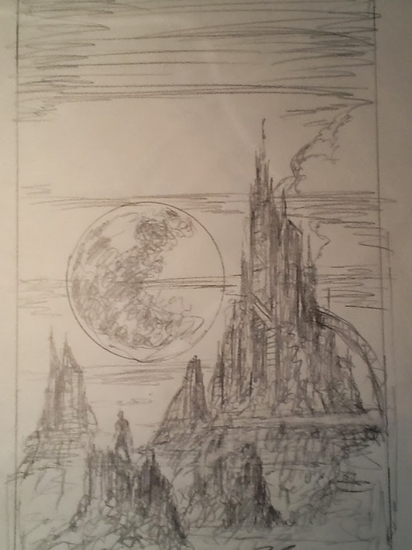 Beyond This Horizon Sketch In Hal Greenbergs Sci Fi And Fantasy