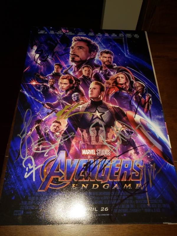 Avengers Endgame Signed Poster In Michael Hosey S Signed Movie