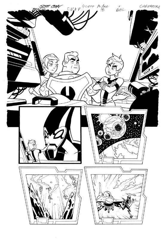 Ben 10 Alien file pg 1, in Scott Cohn's COMIC PAGES Comic Art