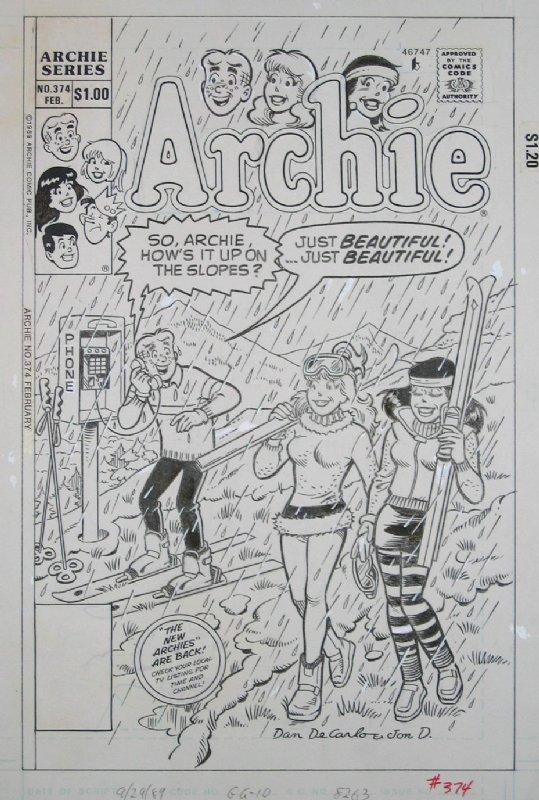 DeCarlo/D'Agostino ARCHIE COMICS #374 (Feb/90), in Dr