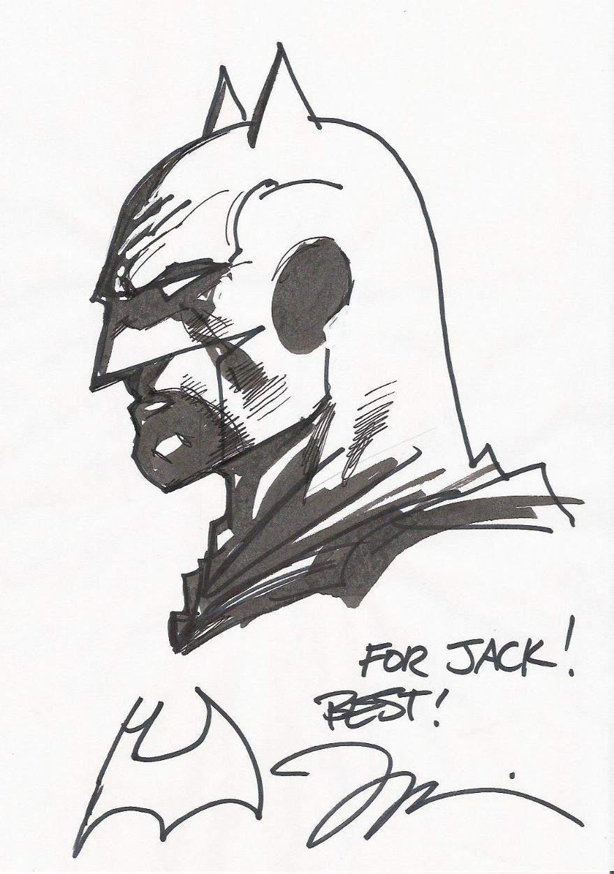 batman sketch by jim lee comic art
