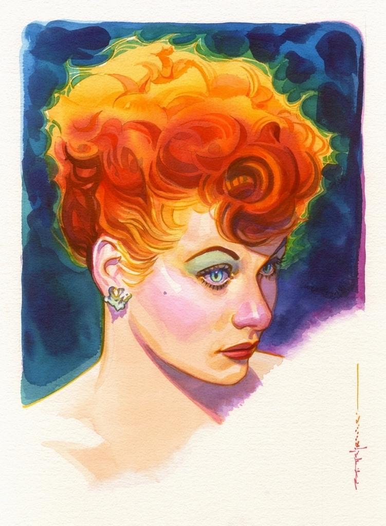 I Love Lucy Comic Art