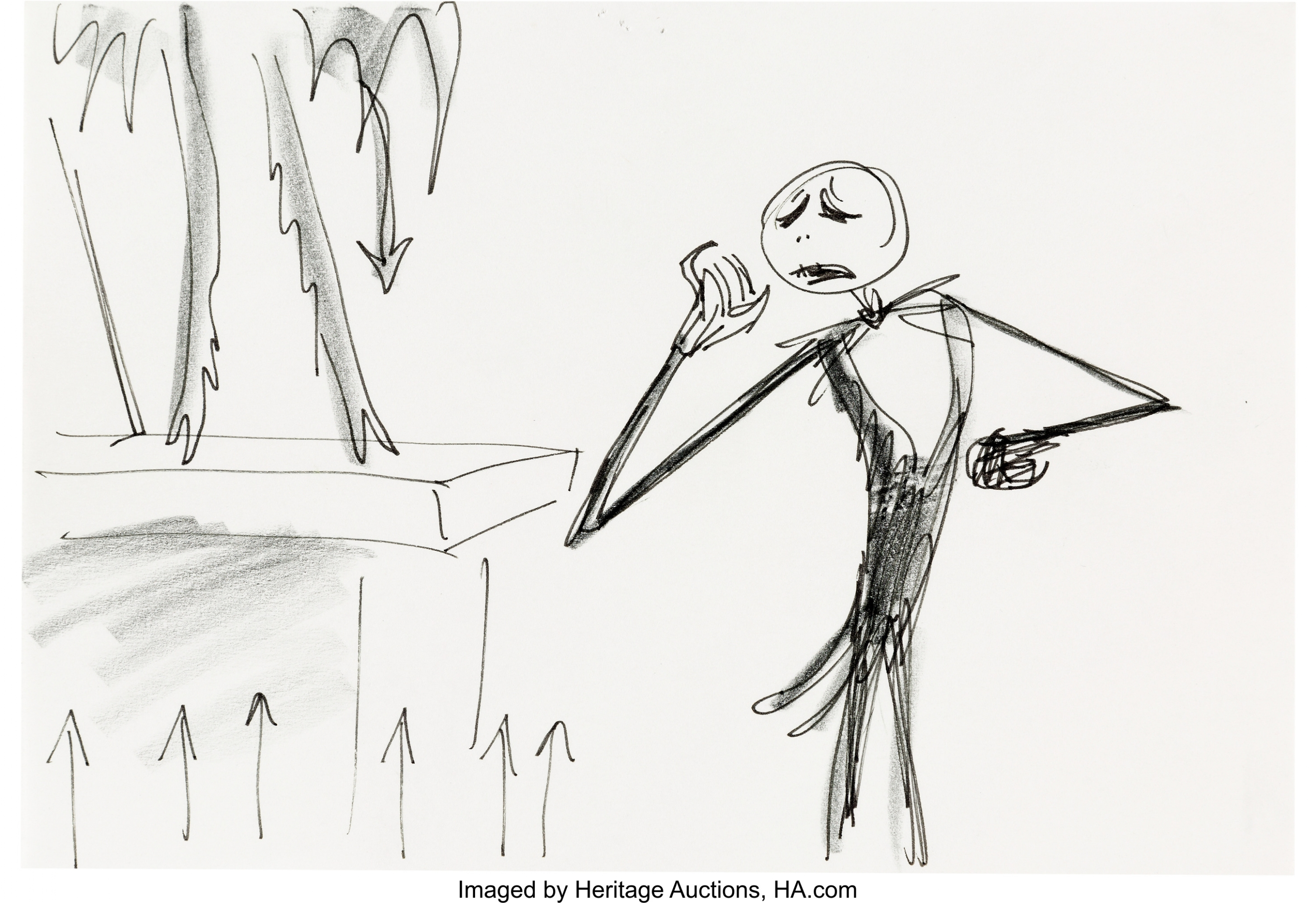 Tim Burton Nightmare Before Christmas Artwork.Tim Burton S Nightmare Before Christmas Storyboard