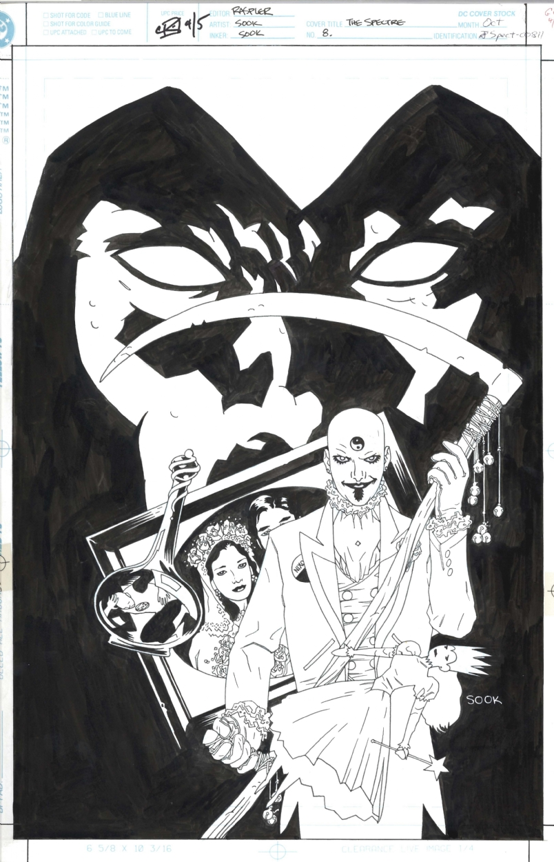 Ryan Sook Spectre #8 Cover Comic Art