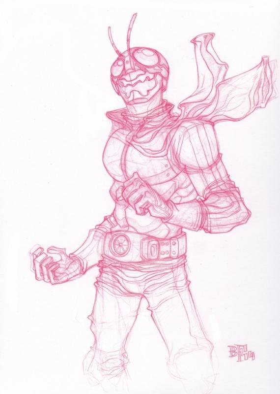 Billy Fowler - Kamen Rider Shocker pencils, in Justin Leigh