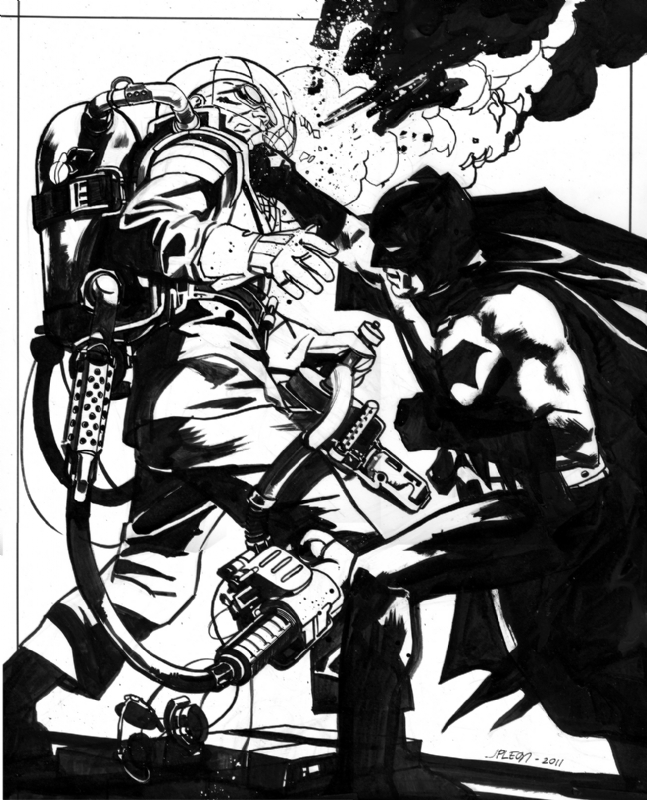 Batman vs Mister Freeze Christmas by John Paul Leon, in Doctor ...