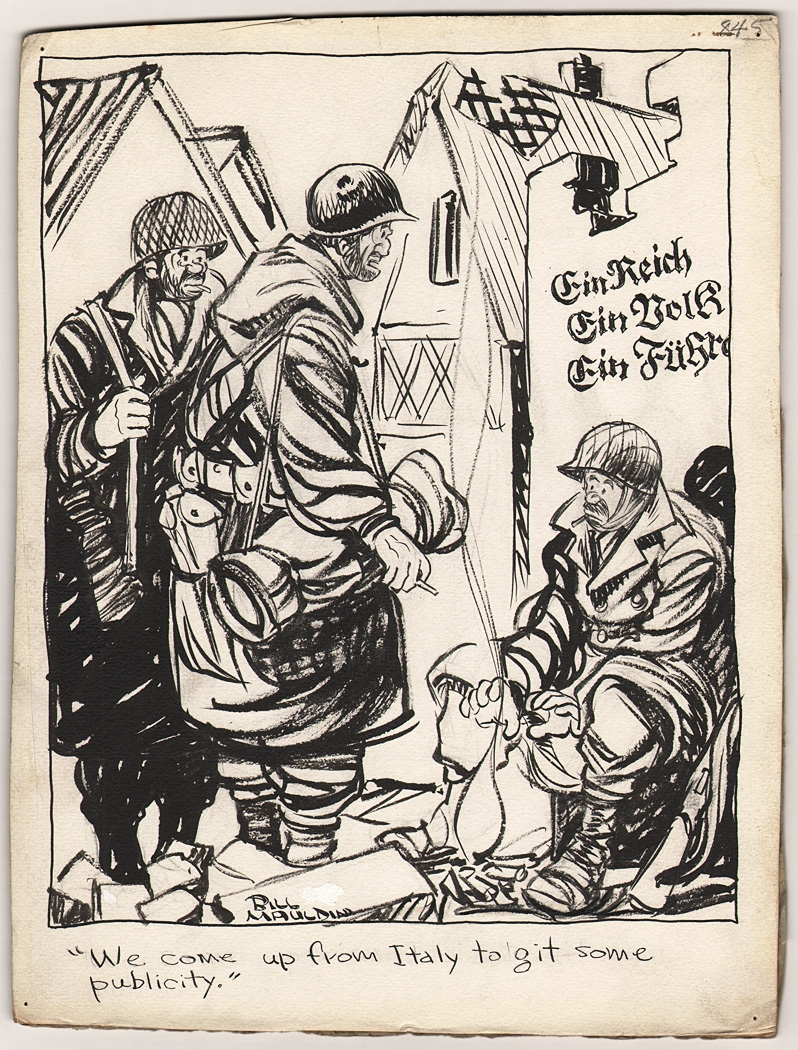 Bill Mauldin - WWII Cartoon - Up Front - 1945, in Rob