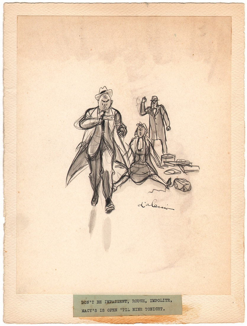 gregory d alessio 1938 macy s advertising cartoon 5 in rob