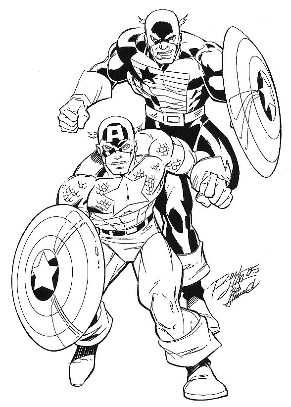 captain america and the usagent ron lim bob almond in michael