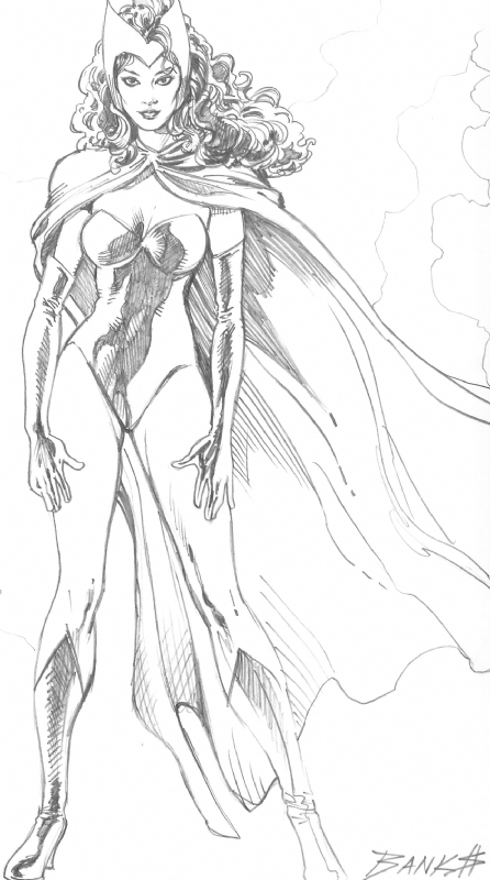 The Scarlet Witch Darryl Banks Comic Art
