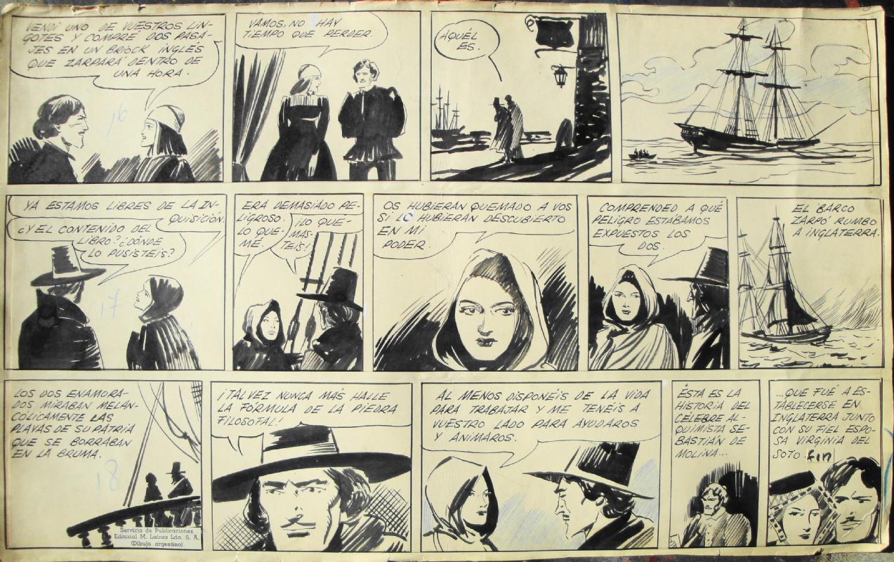 Alberto Breccia, 1947: La Noche de la Formula Secreta, page 6. Comic