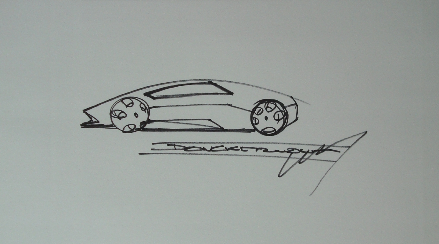Lamborghini Design Sketch In Candy Thiele S Convention Sketches