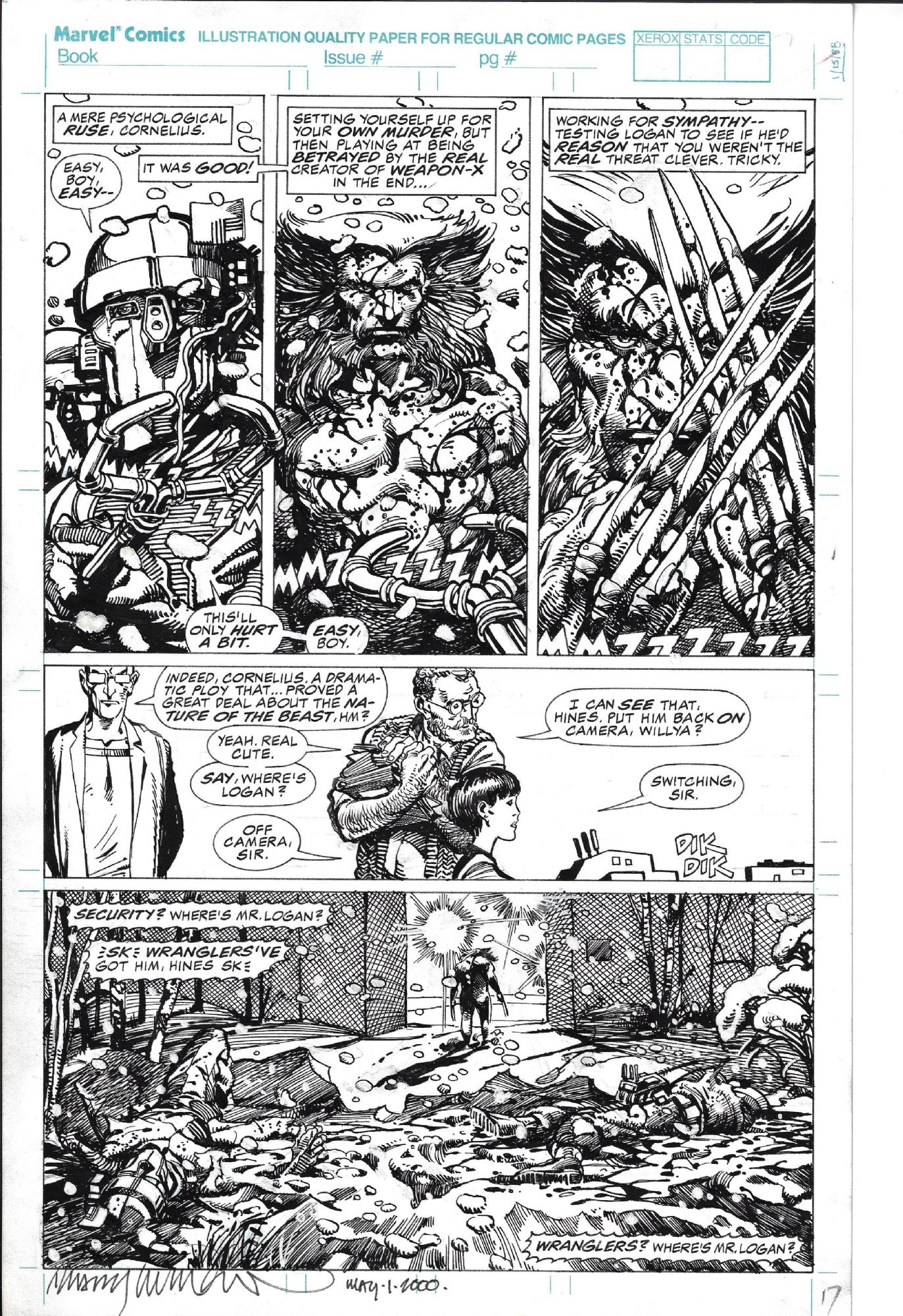 Marvel Comics Presents 84 page 17, in robert frey's Barry Windsor